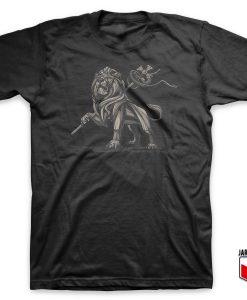 Cool Lion Of Judah Statue T Shirt Design