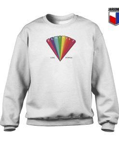 Rainbow Feminist Crewneck Sweatshirt