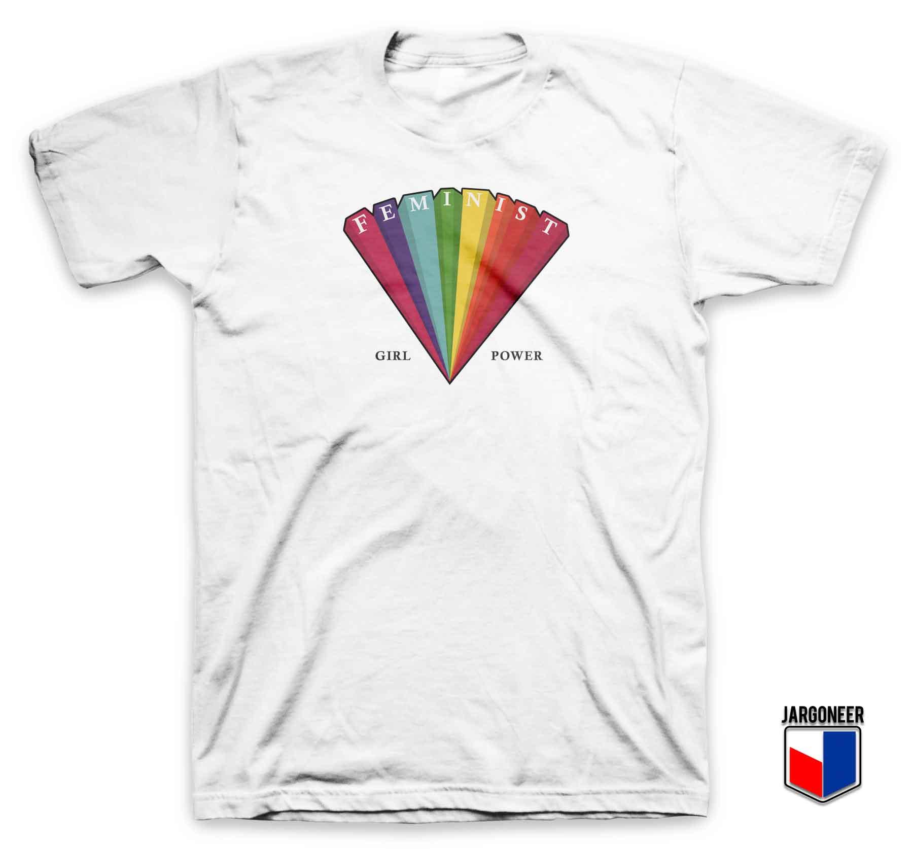 Cool Rainbow Feminist T Shirt Design