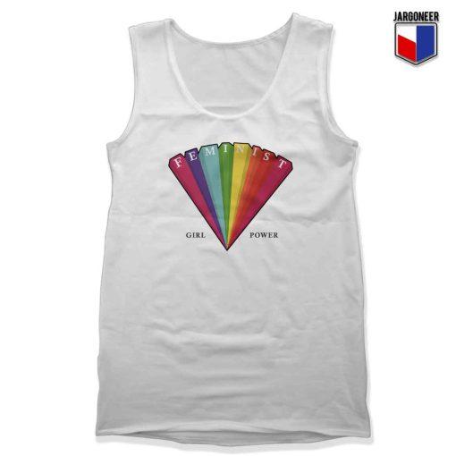 Rainbow Feminist Unisex Adult Tank Top Design