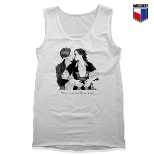 The Classic Titanic Jack And Rose Adult Tank Top Design