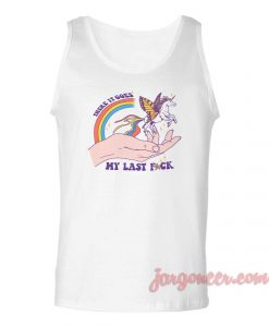 Unicorn My Last Fuck Unisex Adult Tank Top