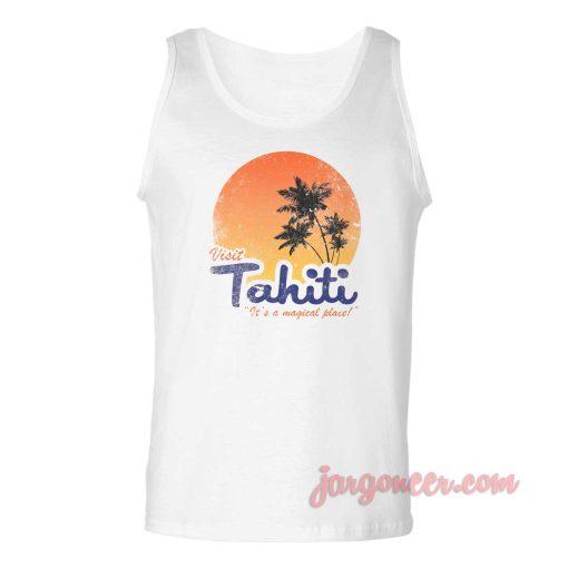 Visit Tahiti Magical Place Unisex Adult Tank Top