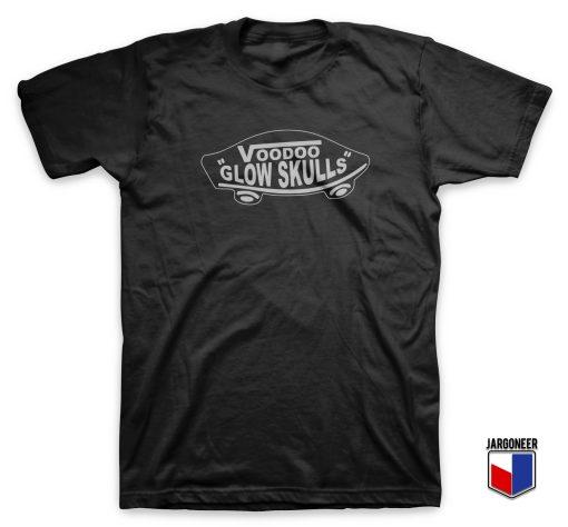 Cool Voodo Glow Skulls Logo T Shirt Design