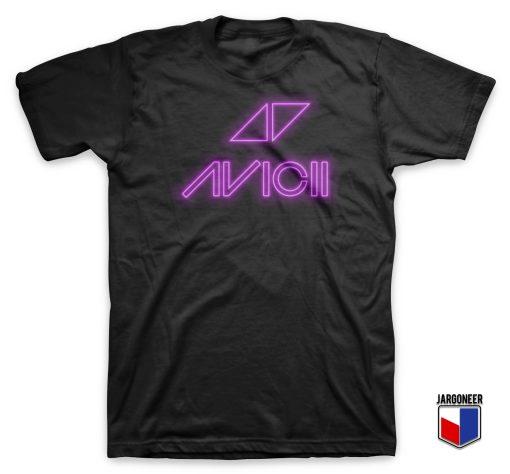 Cool Avicii Neon Logo T Shirt