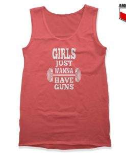 Girls Just Wanna Have Guns Unisex Adult Tank Top