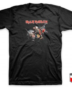 Cool Iron Maiden Trooper T Shirt Design
