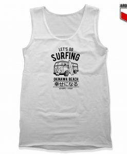Let's Go Surfing Okinawa Beach Unisex Adult Tank Top Design