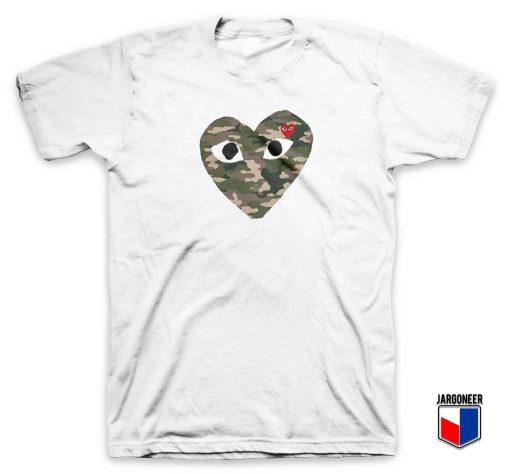 Cool Love Camo T Shirt Design
