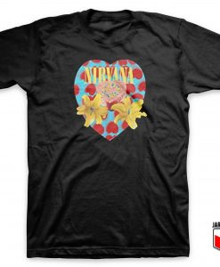 Cool Nirvana Heart Shaped Box T Shirt Design