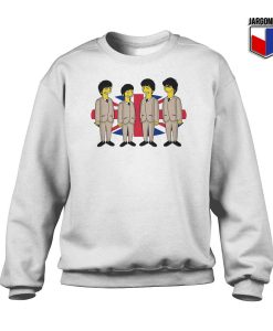 Simpsons Beatles Crewneck Sweatshirt