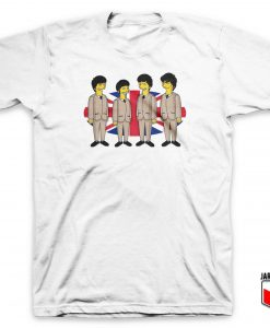 Cool Simpsons Beatles T Shirt Design