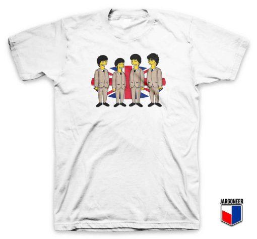 Cool Simpsons Beatles T Shirt Design