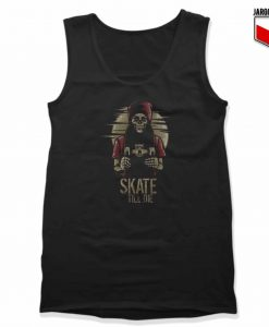 Skate Till Die Unisex Adult Tank Top Design
