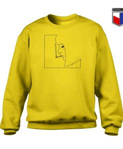 Smoking Girl Crewneck Sweatshirt