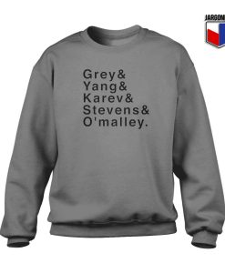 Grey Yang Karev Stevens and O'malley Crewneck Sweatshirt