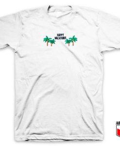 Coconut Tree Happy Vacation T Shirt