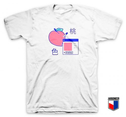 Peach Digital T Shirt
