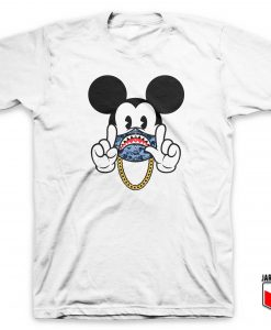 Bape X Mickey Gang T Shirt