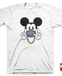 Bape X Mickey Gang T Shirt