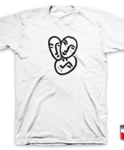Three Face Abstract T Shirt