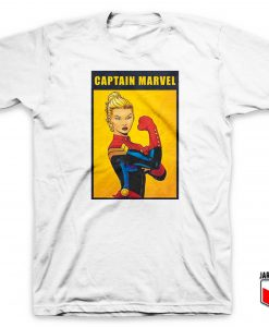 Captain Marvel The Riveter Poster T Shirt