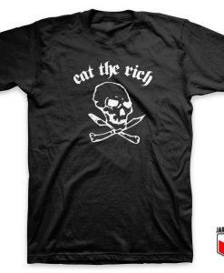 Eat The Rich Skull T Shirt