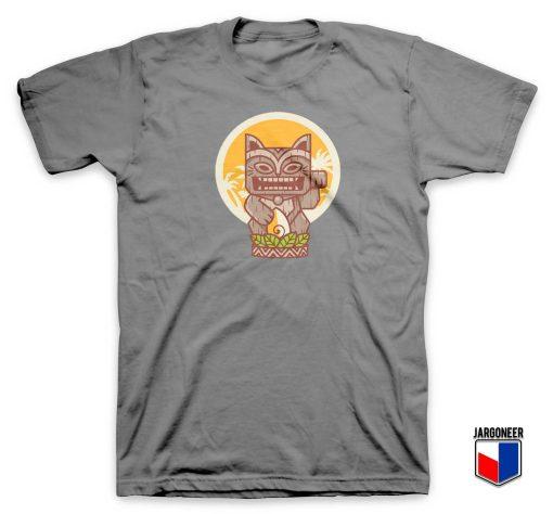 Kitty Meowy Tiki T Shirt