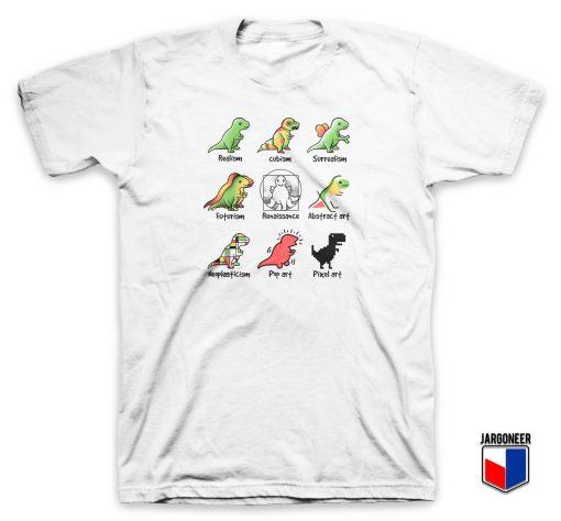T Rex Art Parody T Shirt