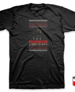 Dachsund Ugly Christmas T Shirt
