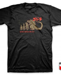 Evolution Of Zilla Monster T Shirt