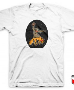 Sloth Riding Fox T Shirt