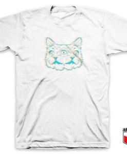 Three Eye's Neon Cat T Shirt
