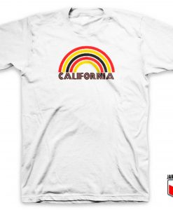 California Flocked Rainbow T Shirt