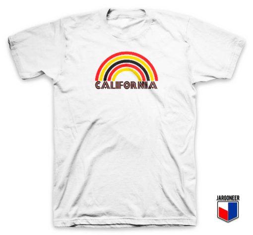 California Flocked Rainbow T Shirt