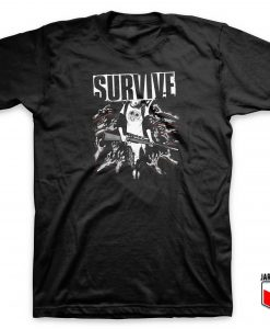 Angel Survive Zombie T Shirt