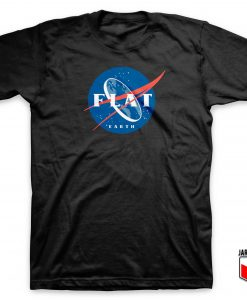 Flat Earth Nasa Logo T Shirt