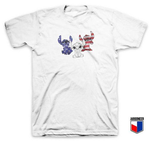 Stitch American Flag T Shirt