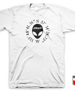 Area 51 Alien Coordinates T Shirt