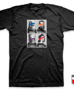Renaissance Ninja Artists Pop Art T Shirt