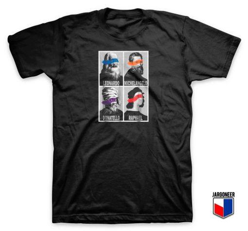Renaissance Ninja Artists Pop Art T Shirt