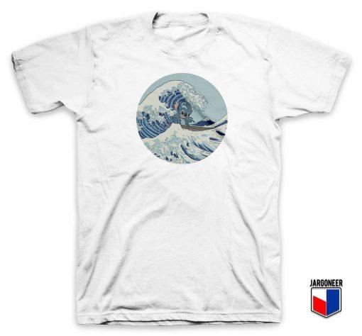 Lilo and Stitch Stitch Kanagawa Wave T Shirt