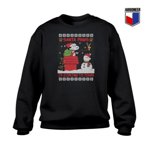 Snoopy Santa Paws Christmas Sweatshirt