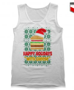 Happy Holidays With Cheese Christmas Tank Top