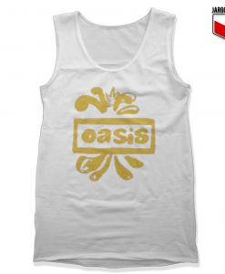 Oasis Decca Logo Black Tank Top