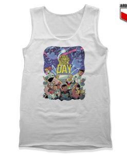 Free Comic Book Day White Tank Top 247x300 - Shop Unique Graphic Cool Shirt Designs