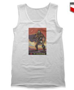 The Mandalorian Poster White Tank Top 247x300 - Shop Unique Graphic Cool Shirt Designs