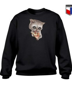 Cat Loves Pizza Kitten Sweatshirt