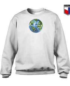 Galactic Disco Ball Planet Earth White Sweatshirt 247x300 - Shop Unique Graphic Cool Shirt Designs