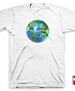 Galactic Disco Ball Planet Earth White T Shirt 247x300 - Shop Unique Graphic Cool Shirt Designs
